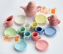 1:12 Mini Dollhouse Furniture Accessories Colorful TeaSet 15 NEW