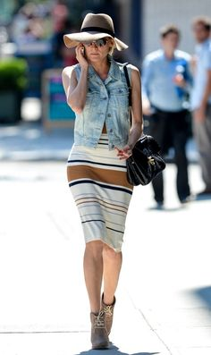 DIANE KRUGER | DENIM + STRIPES