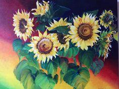 I love painting sunflowers