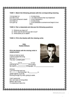A song to practice simple present with pre-tasks, while-task and post-task - ESL worksheets English Resources, English Activities, English Tips, English Fun, English Class, English Lessons, Learn English, English Games, Grammar Activities
