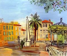 """""""la place d'hyeres"""" (The Square in Hyeres) - Raoul Dufy .......#GT"""
