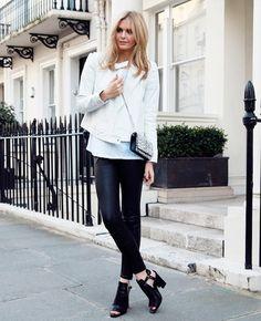Saint Laurent Handbag, Zara heels The Best Blogger Outfit Ideas To Try This Weekend via @WhoWhatWear