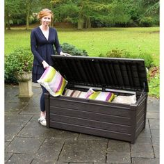 Admirable Keter 213126 Eden Bench Box Misc Patio Storage Bench Lamtechconsult Wood Chair Design Ideas Lamtechconsultcom
