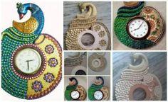 Procedure of making peacock wall clock