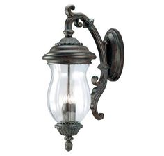 Savoy House Basilica Bronze Wall Mount Lantern by Savoy House. $657.14. This stately outdoor wall light is classic Karyl Pierce Paxton, and designed to help you showcase your sense of style al fresco! With rich, timeless detailing throuhout the base, this piece is finished in Walnut Patina, with Clear Ribbed glass. KP-5-505-40