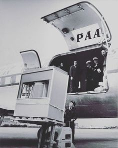 Transferring a 5MB hard drive 1956.  #harddrive #5mb #computer #technology #tech #cargo #transport #oldtech #airplane