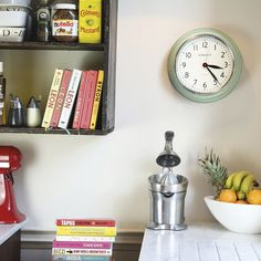 Buy Newgate Clocks The Cookhouse Wall Clock - Squeezy Lemon