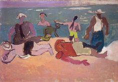 Spiaggia, 1945. Olio su tela, cm 40x56.
