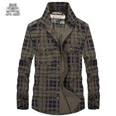>> Click to Buy << Men Casual Plaid Shirt AFS JEEP Original Brand Mens Long Sleeve Cotton Slim Shirts Spring Autumn Leisure Men's Shirt Plus Size #Affiliate
