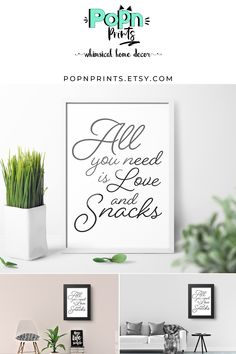 Funny Pickles Printable Art, Modern Contemporary Art Prints, Humorous Print Best Friend Gift, All You Need is Love and Pickles Digital Art - Donuts Contemporary Art Prints, Modern Contemporary, Donut Bar, Quirky Home Decor, Wall Art Quotes, All You Need Is Love, Printable Wall Art, Printable Quotes, Gifts For Friends