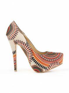 Kayle printed heels