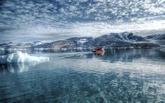 free Arctic Sea Wallpaper Greenland World wallpaper, resolution : 1920 x tags: Boating trip on the Arctic Sea wallpaper Arctis sea Eastern Greenland wallpapers icy reflection water sea boat iceberg sky clouds blue. Tromso, Royal Dutch, Greenland Travel, Crystal Clear Water, Photo Instagram, Nature Photos, Amazing Nature, Land Scape, Photoshop