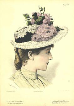 1880s Fashion, Edwardian Fashion, Victorian Hats, Edwardian Era, Vintage Ladies, Vintage Hats, Wedding Hats, Handmade Wedding, Belle Epoque