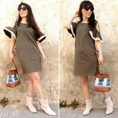 Boho dress - Temporada: Primavera-Verano - Tags: Inspo, fashion, moda, look, outfit, dress - Descripción: Vestido hombtos al aire clave boho - chic