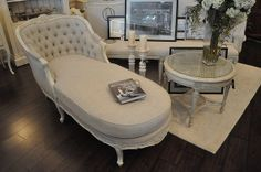 French provincial chaise