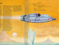 "From ""Terran Trade Authority Handbook: Spacecraft 2000 to 2100 AD"" by Stewart Crowley, Sci Fi Spaceships, 70s Sci Fi Art, Sci Fi Ships, Classic Sci Fi, Science Fiction Art, Space Crafts, Sci Fi Fantasy, Retro Futurism, Concept Art"