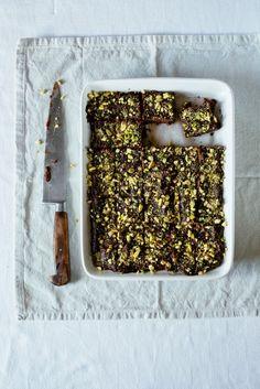 Chocolate, cardamom and stem ginger barfi