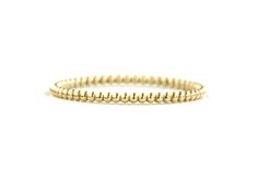 Micro-Beaded Ring - Solid 14K gold.  Delicate Beaded Detail.  1.10mm wide. Grace Lee Designs