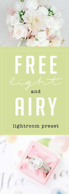 free light and airy lightroom preset