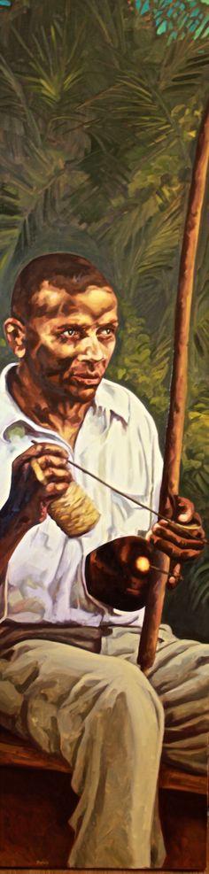 Anna Ludwig (Pintora) Painting of Mestre Bimba