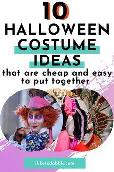 DIY Halloween costume ideas for adults that won't break the bank #Halloween #DIY #DIYCostume #CostumeIdeas #MoneyTips