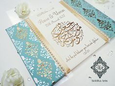 Trendy Wedding Card Muslim Gifts Ideas – The Best Ideas Muslim Wedding Cards, Muslim Wedding Invitations, Arab Wedding, Diy Wedding Favors, Wedding Gifts, Islamic Gifts, Islamic Art, Diy Wedding Lighting, Ramadan Decoration