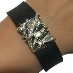 Fitbit Charge HR, Fitbit Charge Bracelet Accessory - Modern Geometric Rhinestone Studded Silver Gold IBIZA Bracelet Accessory  Harmonize weekend style & wearable tech! This Modern Geometric Rhinestone Studded Silver Gold IBIZA Bracelet Accessory for the Fitbit Charge, and Fitbit Charge HR activity trackers is an elegant, chic and understated way to track your fitness anytime of day!  Weekend Wearables charm accessories work wonderfully with all types of outfits: casual, work attire, and a…