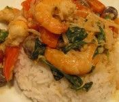 Easy Thai Shrimp Red Curry dish