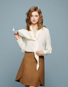#Bow #Blouse #Editorial #Model #Spring #Style #Fashion #BiographyInspiration