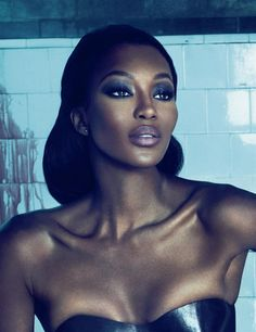 In this controversial editorial from the October 2010 issue of Interview Magazine, Naomi Campbell plays a deadly dominatrix with a lust for blood. Mert and Marcus capture the dark side of Naomi in a derelict, … Naomi Campbell, Lara Stone, My Black Is Beautiful, Beautiful People, Beautiful Women, Linda Evangelista, Christy Turlington, Beauty Hacks, Short Curly Hair