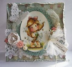 Jane's Lovely Cards : Magnolia-licious Challenge DT - Frilly, Lacey and Feminine