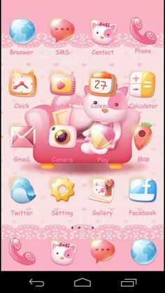 Phone Themes, Cute Themes, App Drawer, App Logo, App Icon, Presentation, Delicate, Android, Kitty