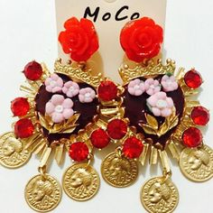 Find More Drop Earrings Information about New brand baroque head coin big earrings crown heart vintage roses flower crystal earrings fashion jewelry for women A942,High Quality jewelry tibet,China jewelry polish Suppliers, Cheap jewelry jig from The Sunny Day on Aliexpress.com