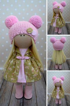 Baby Pink Doll Tilda Fabric Doll Winter Soft Doll Handmade Textile Doll Rag Art Doll Nursery Christmas Doll Kids Present Doll by Olga G _____________________________________________________________________________________ Hello, dear visitors! This is handmade cloth doll created