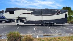 WOW! This Luxe luxury fifth wheel is in Tampa now. At the Tampa Science and Industry Museum. Jan 14-16. Stop by today. (844)284-6678 Fifth Wheel Toy Haulers, Fifth Wheel Campers, Luxury Fifth Wheel, Rv Show, 5th Wheels, Paint Schemes, Big Time, Motorhome, Recreational Vehicles