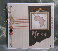 191. African themed card. #handmade #Africa