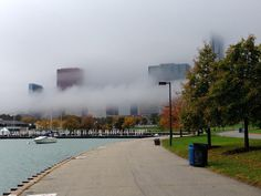 cool clouds on the lakefront