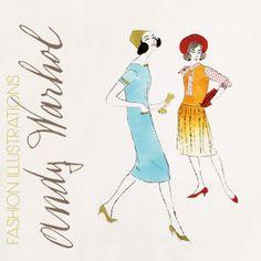 Two Female Fashion Figures, c.1960 Andy Warhol