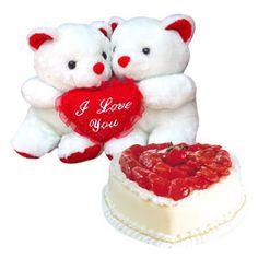 Cute Teddy Bear Pics, Teddy Bear Pictures, Cute Gifts, Cheesecake, Hearts, Corner, Romance, Desserts, Imagenes De Amor