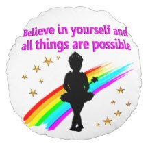LIVING DANCER DREAMS DESIGNS ROUND PILLOW http://www.zazzle.com/mysportsstar/gifts?cg=196655264925785682&rf=238246180177746410  #Dancer #Dancing #Dancergifts #Ballet #Ballerina
