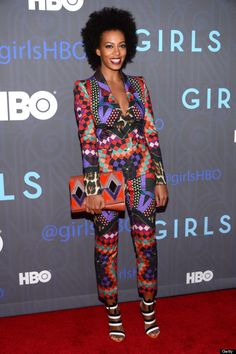 Solange Knowles attends the Premiere Of 'Girls' Season 2 Hosted By HBO at NYU… Solange Knowles, African Wear, African Women, African Dress, African Inspired Fashion, African Print Fashion, African Prints, Crazy Suits, Style Afro