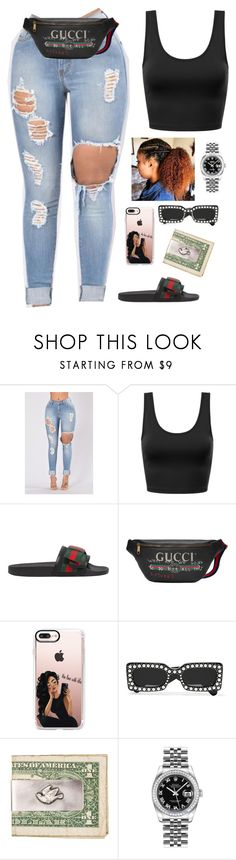 """""""Untitled #422"""" by amourhailey ❤ liked on Polyvore featuring Gucci, Casetify and Rolex"""