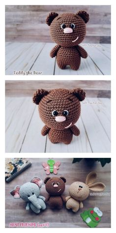 knitted dolls Amigurumi Sam The Little Teddy Bear Free Pattern Free Amigurumi Patterns Crochet Pattern Free, Crochet Bear Patterns, Amigurumi Patterns, Crochet Tops, Doll Patterns, Diy Teddy Bear, Knitted Teddy Bear, Scrap Quilt, Crochet Easter