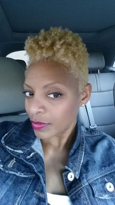4c natural hair in, Blonde Pearl