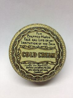 Antique Cold Cream Tin on Etsy, $4.50