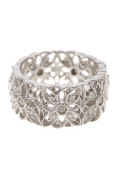Sterling Silver Diamond Flower Ring - 0.33 ctw by Delmar on @HauteLook