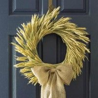 DIY Fall Wheat Wreath | A Tutorial from On Sutton Place