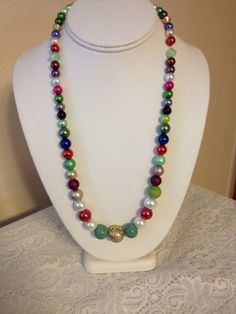 MultiColored Pearl necklace by karlajophoto on Etsy, $35.00