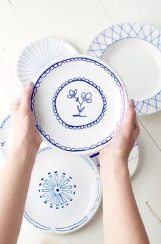 Lees op ons blog hoe je met behulp van porselein stiften zorgt voor een origineel servies.