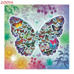 Needlework 3D diamond embroidery full resin diamond with picture home decor mosaic diy diamond painting butterfly